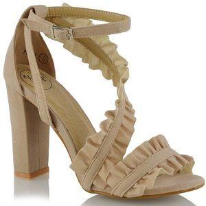 Shoes - Nude open toe heels
